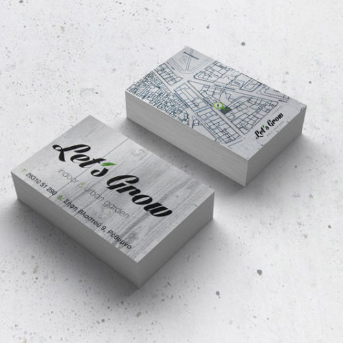 Lets Grow business card